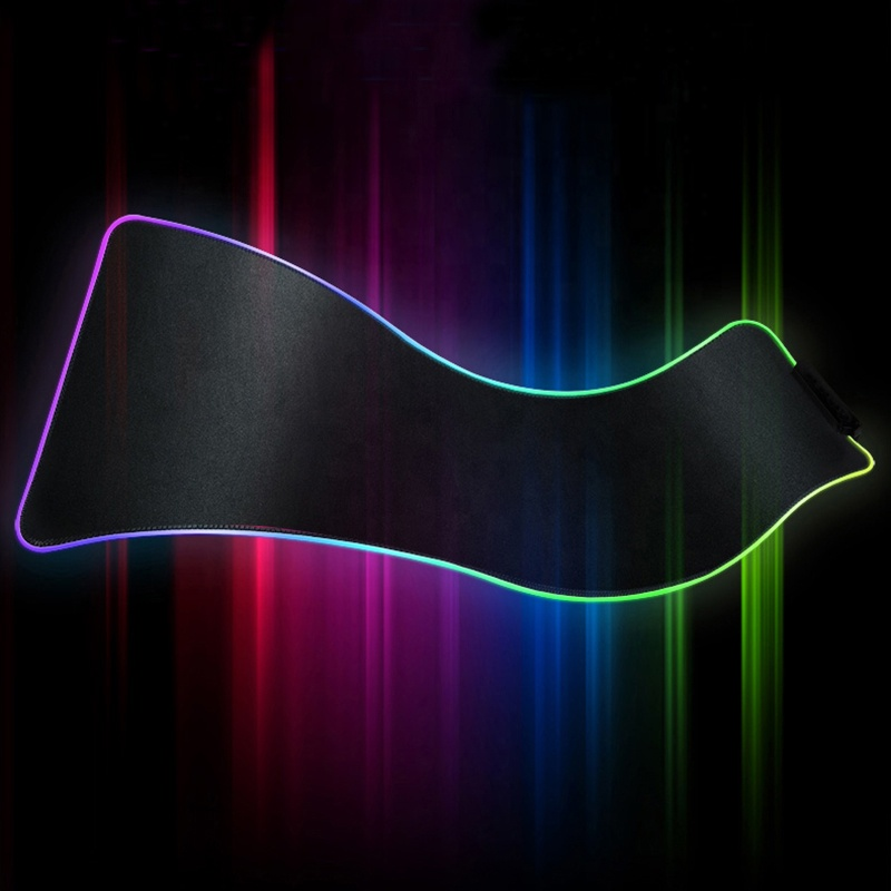Non-Slip Natural Rubber Base RGB Gaming Mousepad RGB Backlit Colorful Light Pad For Keyboard Mouse, All colors is available