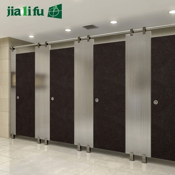 Wood Compact Laminate Hpl Board Public Toilet Partition Door