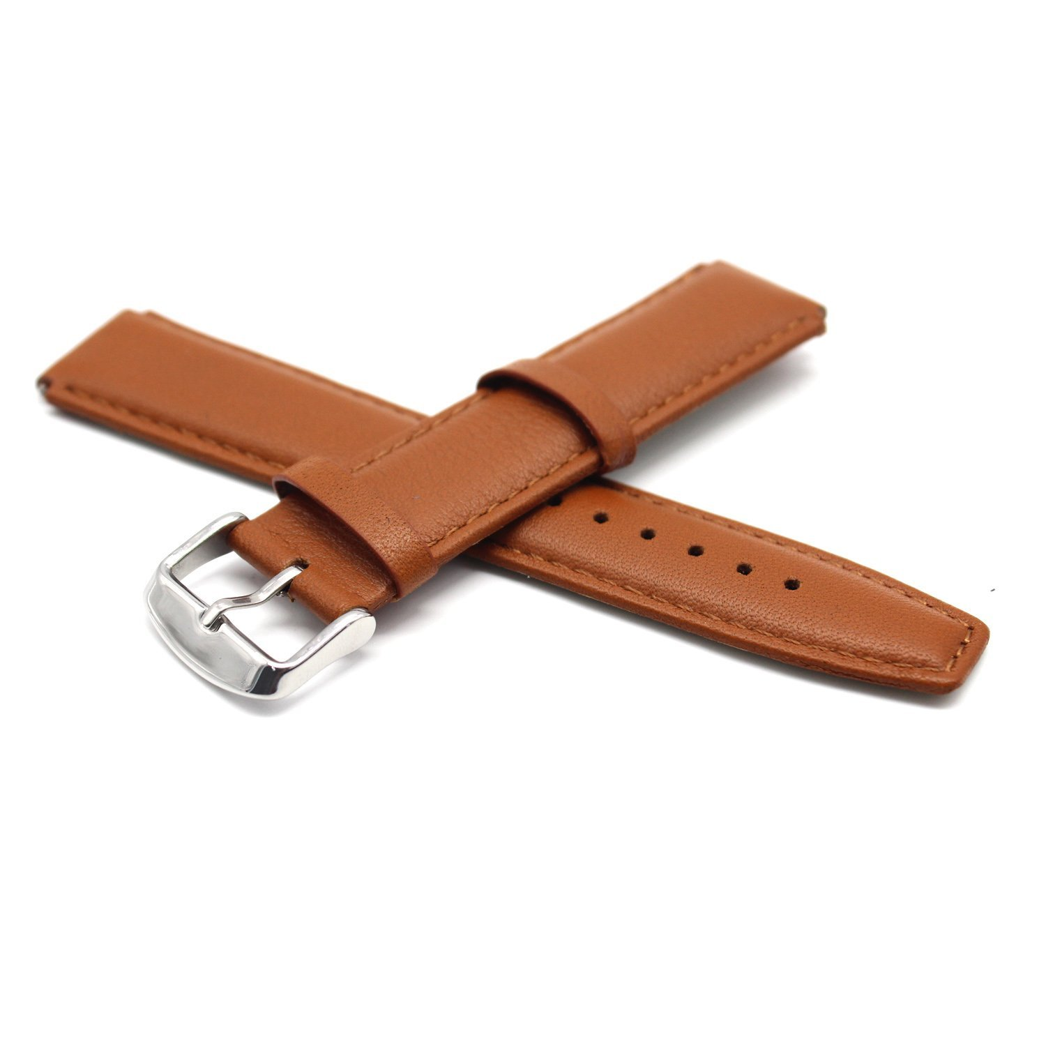 Huawei Fit Smart Fitness Watch Genuine Leather Band - MOTONG Replacement Band For Huawei Fit Smart Fitness Watch,Come With Quick Release (leather light brown)