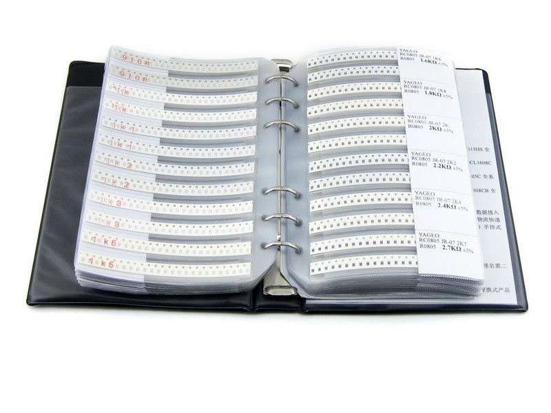 New YAGEO R0805 Capacitor Electronic Components Sample Book of 0805 SMD Resistor 177types 8850pcs
