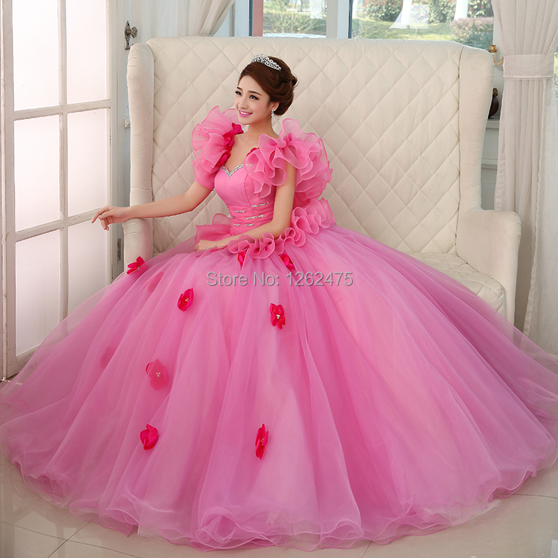 The New 2014 Bride CaiZhuang Princess Dress Color Wedding