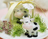 lovely cow shaped Christmas gift candles in bulk