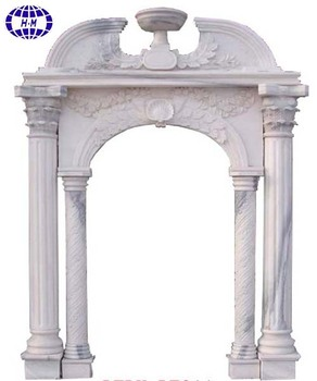 Merveilleux 100% Hand Carved White Marble Door Frame Design