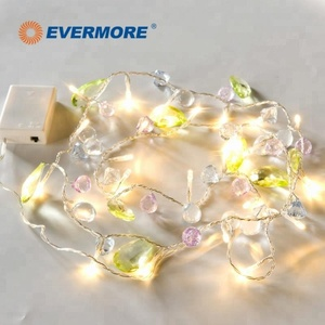 EVERMORE Decoration Colorful LED Party Ball Lights Chain for Events