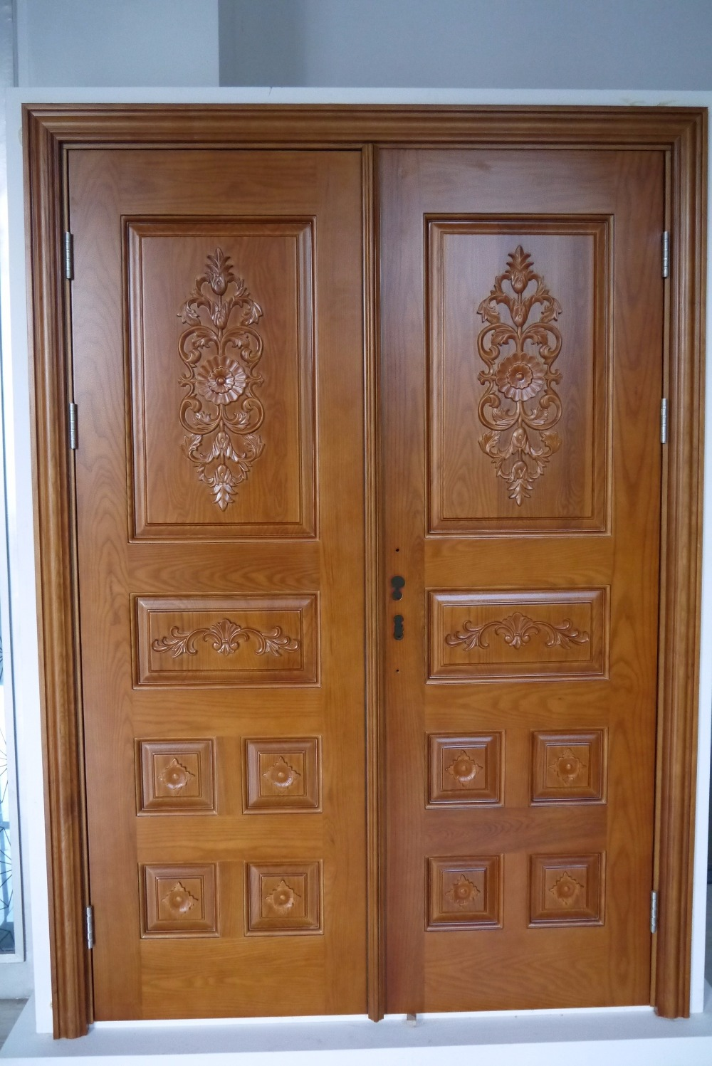 20 Best Modern Door Designs From Wood: Prehung Exterior Double Door 96 Wood Mahogany 2 Panel
