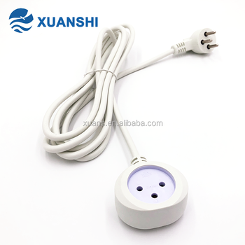 Israel retractable male to male electric extension cord