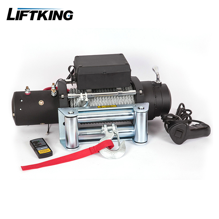 12V DC motor 2000lbs heavy duty electric winch