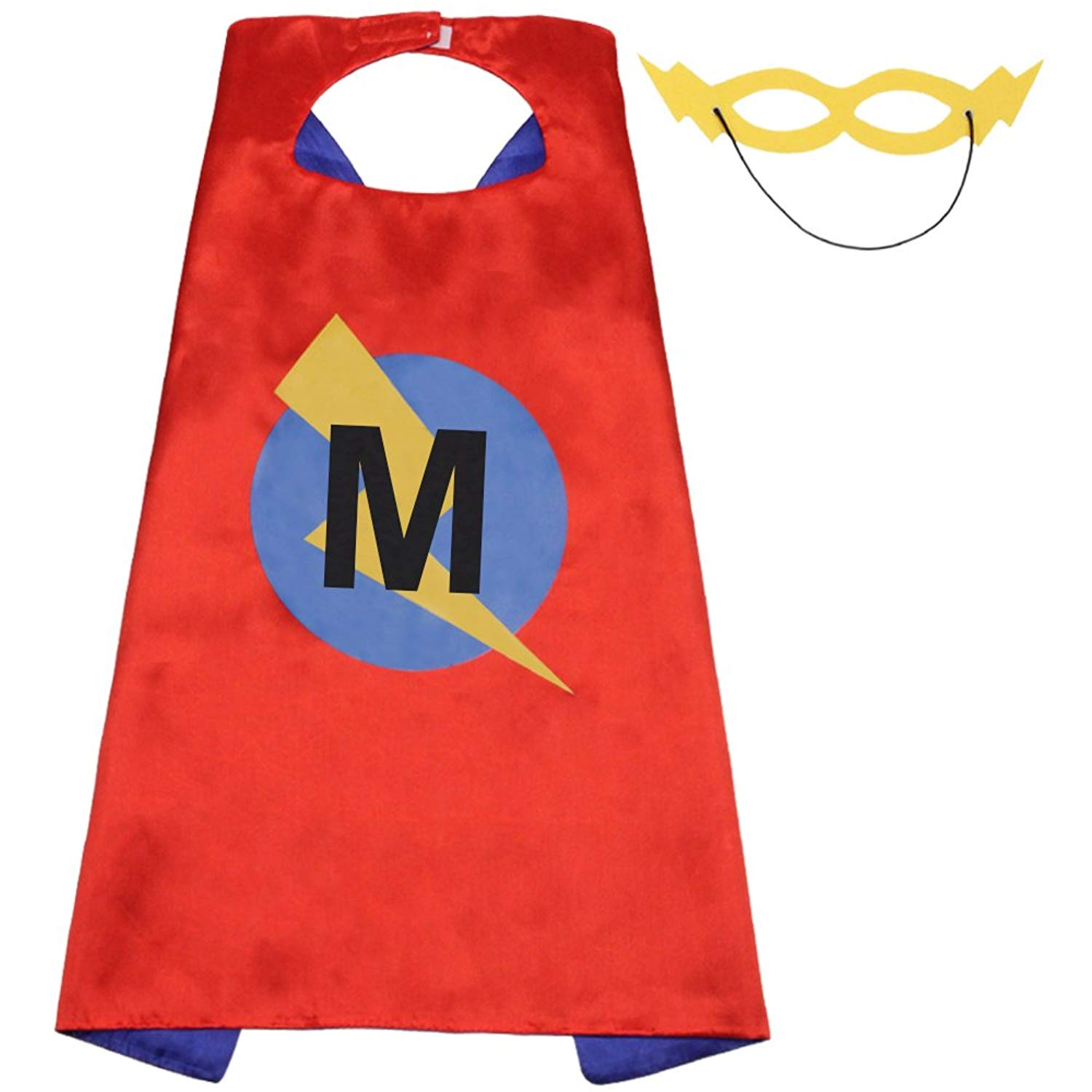 47b07daf8f80e Get Quotations · LYNDA SUTTON Kids Adult Superhero Capes with 25 Letter  Initial Cape Red   Blue Cape