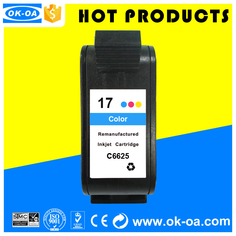Hot high quality remanufactured ink cartridge for HP 17 C6625