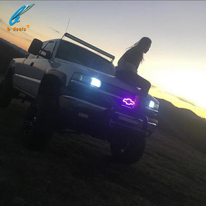 Auto logo light LED Emblems for chevy Bowtie led rgb halos rings changing