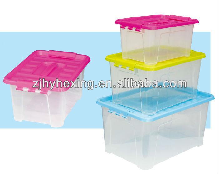 Armario caja de almacenamiento de contenedores de pl stico for Cajas de plastico transparente