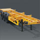 3 Axles 60Tons Skeletal Deck Container Transport Semi Truck Chassis Trailer