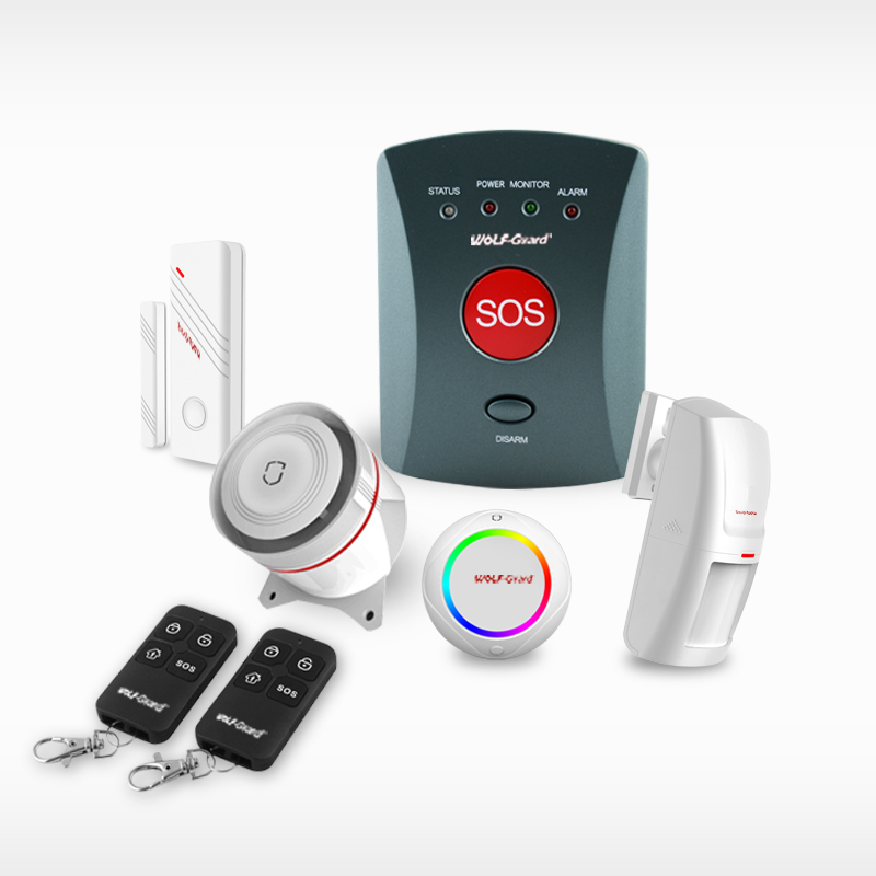 Battery powered gsm sms alert elderly medical alarm system with wireless panic buttons optional