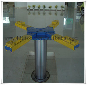 Pneumatic-hydraulic single post car lift in ground 3.5T