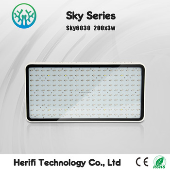 Quiet fan high power low energy consumption 400w sky Series led grow light