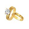 R-147 xuping stainless steel wedding couple set finger ring size+cincin tunangan emas 24 karat+plated 24kt gold jewelry