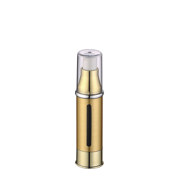 15ml 30ml 50ml luxury gold cosmetic airless pump bottle plastic bottle