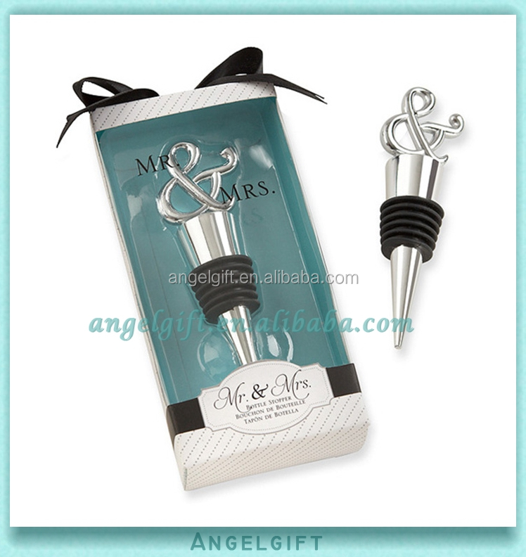 Wedding Favors & wording Mr and Mrs Design Bottle Stopper