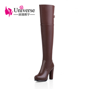 F430 Fashion Ladies Winter Dress Boots Womens Leather Knee High Boots