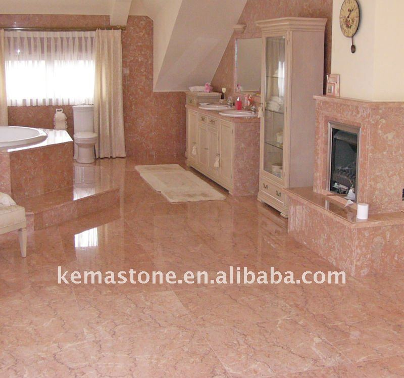 Iran Pink Color Marble Flooring Tiles