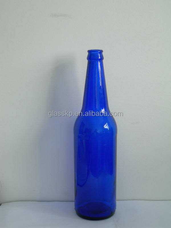 Wholesale 640ml Cobalt Blue Glass Bottles for Beer