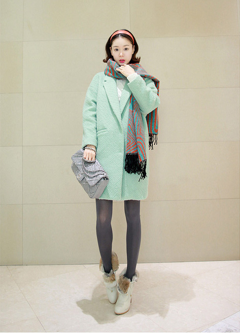 Осень зима женщины длинная шерстяная ткань ткань пальто без тары версии загущающие марка шерстяная ткань ткань пальто