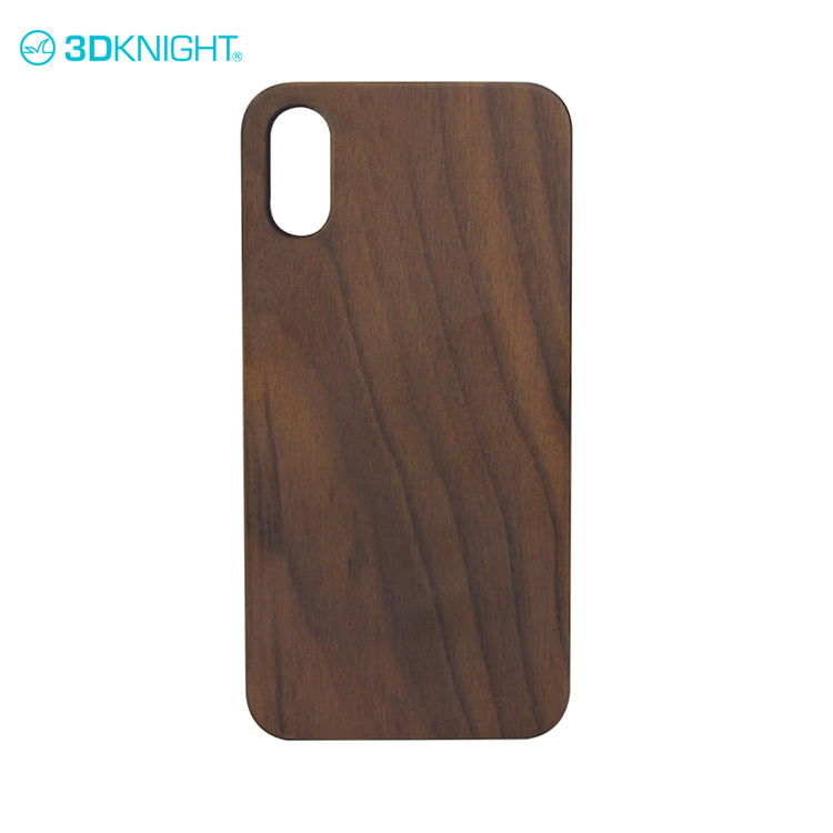 Super quality design walnut wood mobile phone case for iphone X
