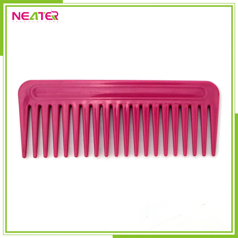 Plastic hair comb, easy clean hair highlight comb for abs plastic personalized hair brush