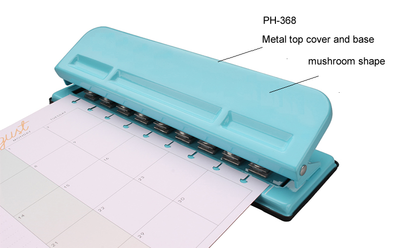 Color box package custom 9 hole paper punch