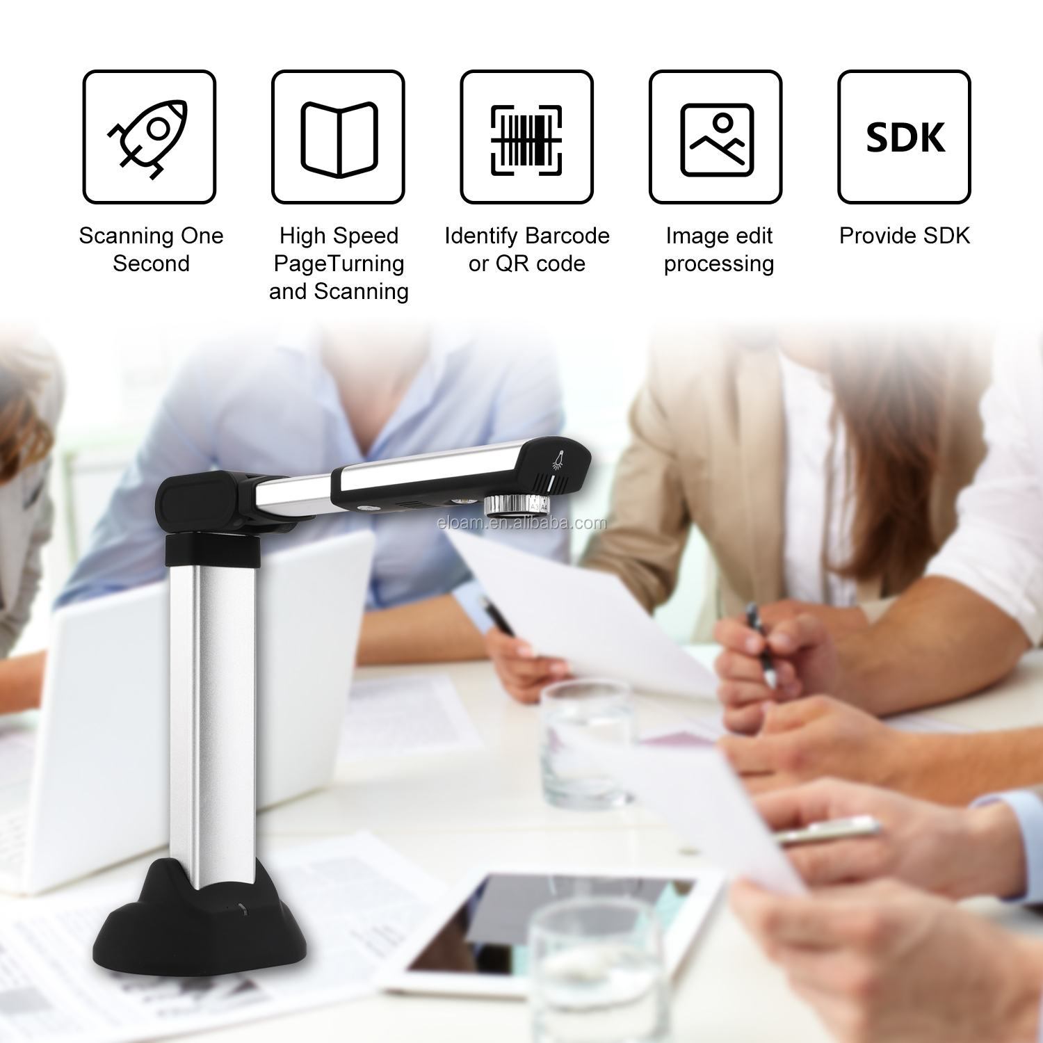Eloam A3 camera scanner  high speed portable document scanner S1000A3