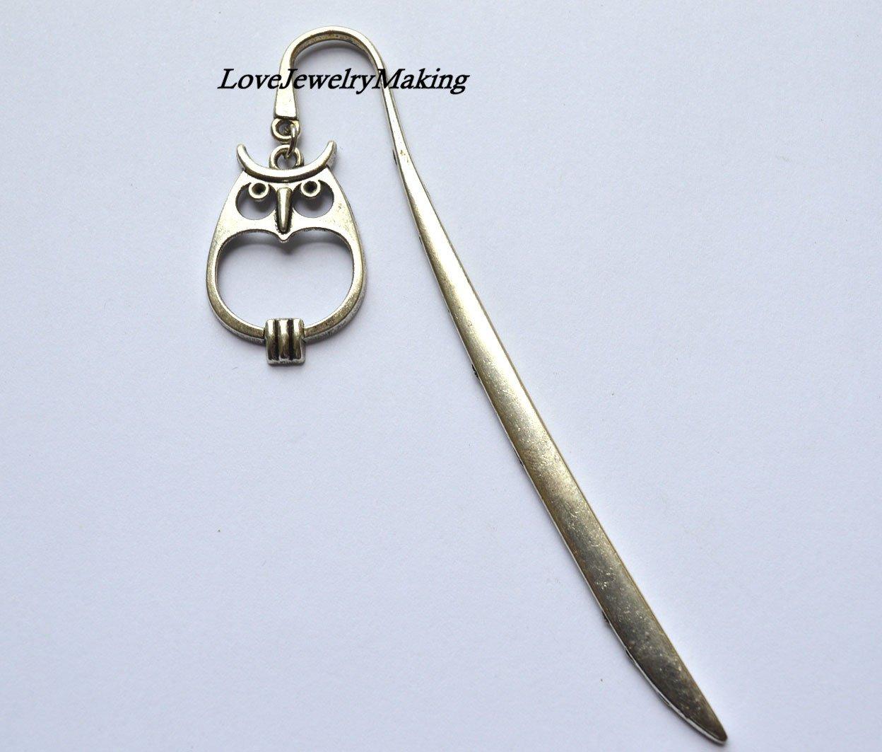 Owl bookmark, bird bookmark,metal bookmark, Owl book lover gift,Unique Bookmarks Halloween bookmark