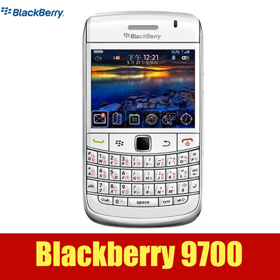 Original unlocked Blackberry Bold 9700 GPS wifi 3 15MP camera Arabic  Russian keypad smartphone in stock