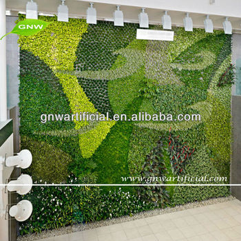 Attractive GNW GLW014 Artificial Vertical Garden Modules Fake Living Wall For Hotel  Decoration
