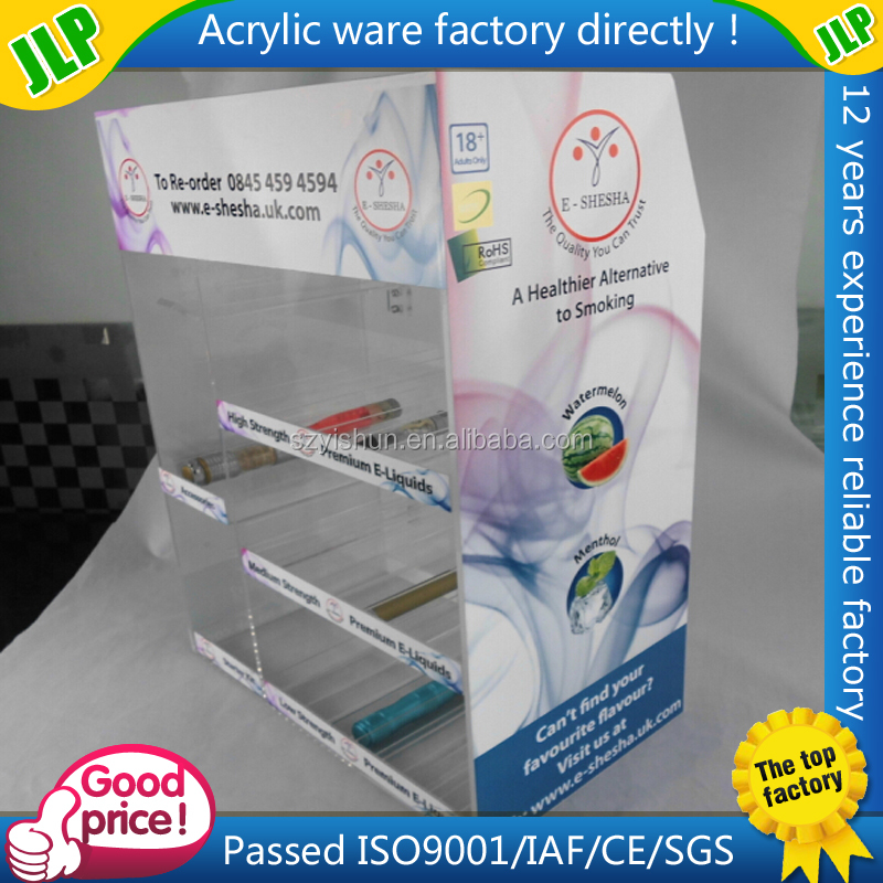 Acrylic electronic cigarette display/display case