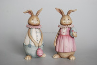 American country home accessories resin crafts antique ornaments resin lover rabbit