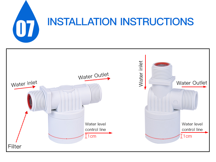standard plastic float valve auto water level control valves water tank with vertical float valve