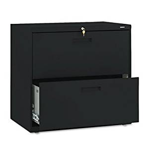 HON - 500 Series Two-Drawer Lateral File, 30w x 19-1/4d x 28-3/8h, Black 572LP (DMi EA