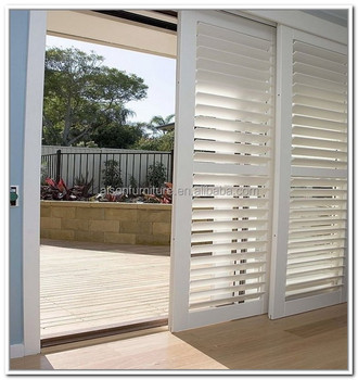 Horizontal Interior Louver Sliding Doors Decorative Window Folding Shutter From China