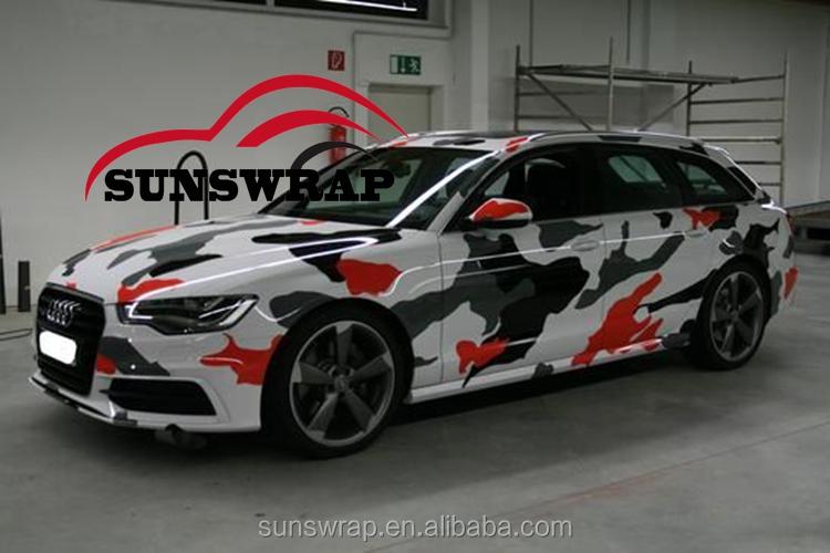 White Black Ubran Night Camo Vinyl Wrap Camoufalge Car Wrap Graphics