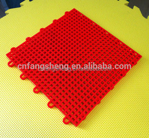 1.3cm thickness interlocking flooring plastic exercise floor