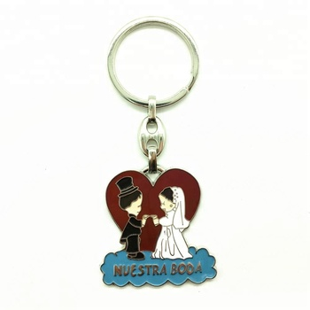Wedding Gifts For Guests Newly Married Couple Zinc Alloy Keyring