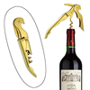 Gold Plated Corkscrew simple cheap Double Hinge Waiters custom bottle opener key chain