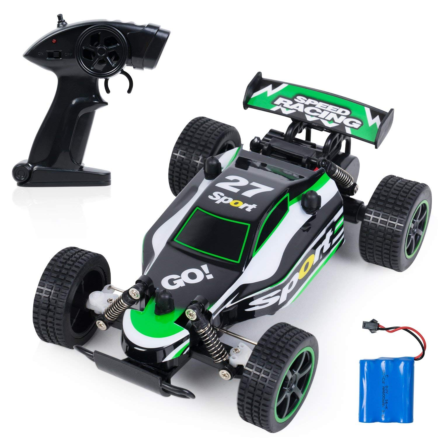 Toch RC Car Off-Road High Speed Car 1:20 Remote Control Racing Car for Boys Kids, 2.4Ghz 2WD Fast Race Buggy Hobby Electric Vehicle Car, Green