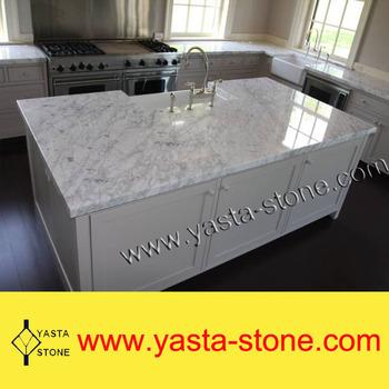 Bianco Carrera White Marble Luxury Kitchen Island Buy Luxus Kuche