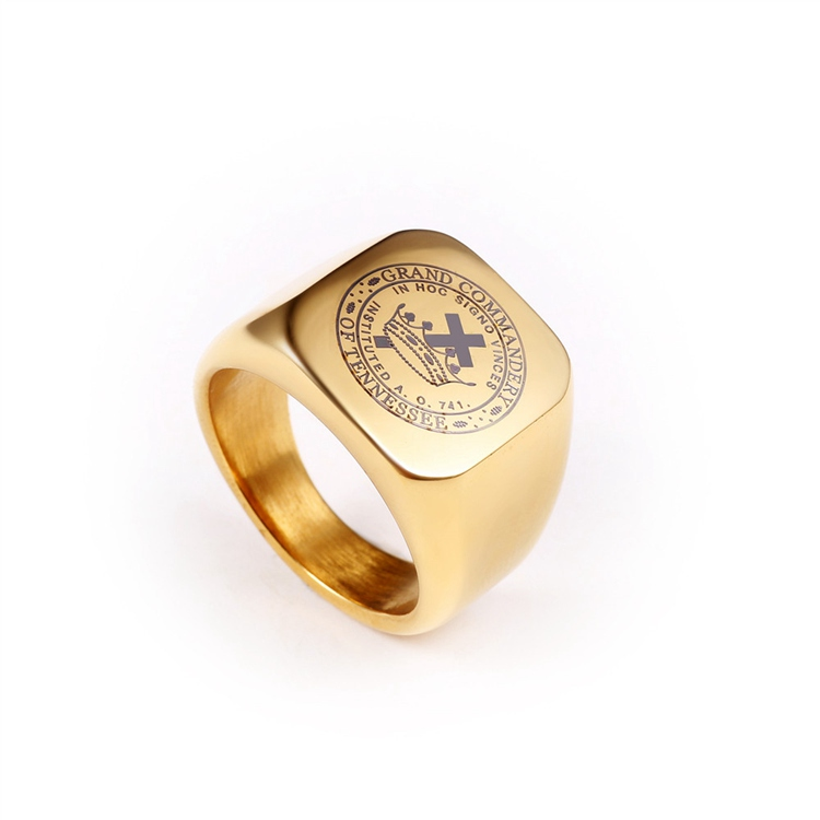 JM-16 18k Gold Plated Ring Designs Templar Ring