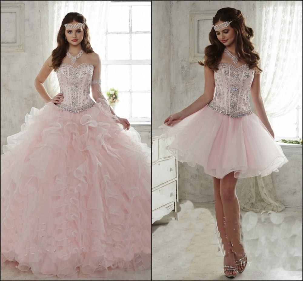Aliexpress.com ... Light Pink And Gold Quinceanera Dresses