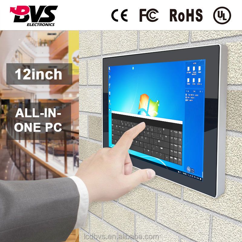 12 inch Capacitive Touch Screen Industrial All in One PC RS232 Embedded