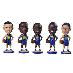 Polyresin Bobble Head Sports Player Figurine Resin Bobblehead NBA Basketball Dashboard Statue Crafts