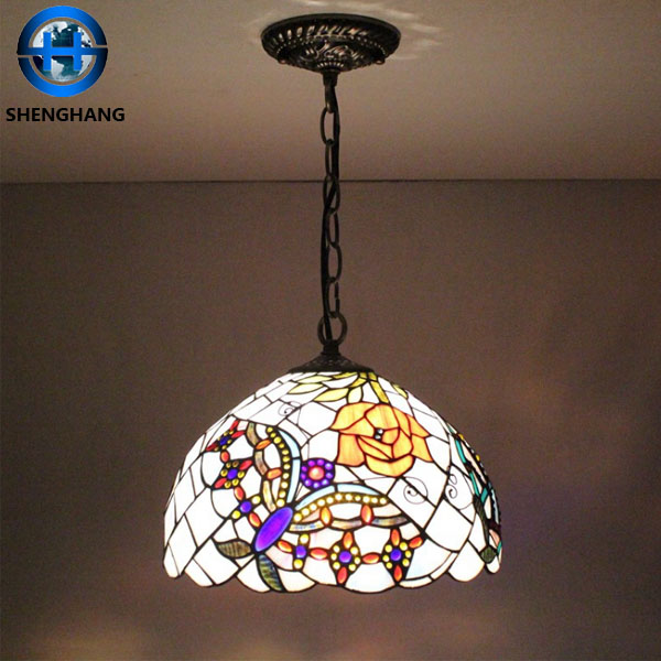 Antique Tiffany Chandeliers Stained Gl Hanging Lamp Whole Pendant Lights Decorative