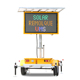 19M Portable Message LED Solar Traffic Sign LED Full Color Light Display Advertising Board